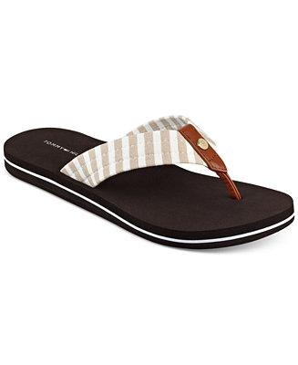 tommy hilfiger women 39 s cicin stripes flip flop sandals. Black Bedroom Furniture Sets. Home Design Ideas