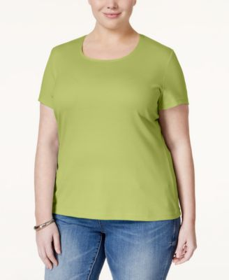 Karen Scott Plus Size Scoop-Neck T-Shirt, Only at Macy's