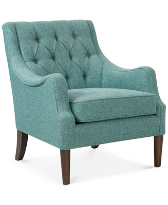 Glenis Tufted Accent Chair Direct Ship Furniture Macy S