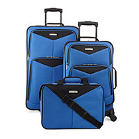 Travel TS0805 Select Bay Front 3-Piece Spinner Luggage Set (Blue or Red)