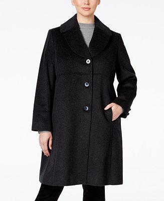 Jones New York Plus Size Empire Waist Wool Blend Walker