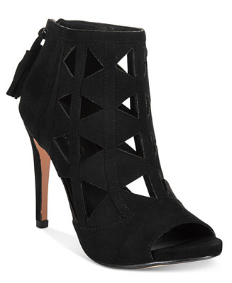 Xoxo Catalina Cut Out Peep Toe Booties Boots Shoes