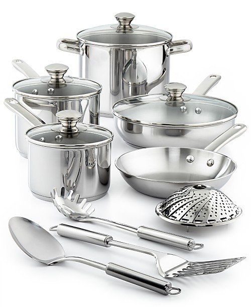Tools of the Trade Stainless 13-Pc. Cookware Set