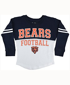 Men's Chicago Bears Majestic Black Up And Over Long Sleeve T-Shirt
