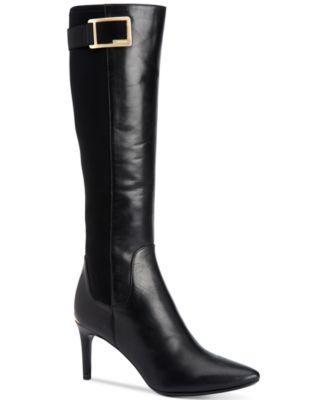 Womens black tall dress boots