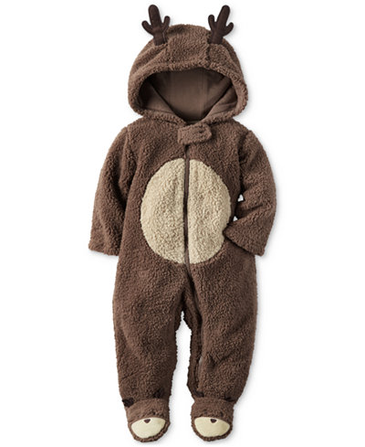 Carter S Hooded Reindeer Footed Coverall Baby Boys Or