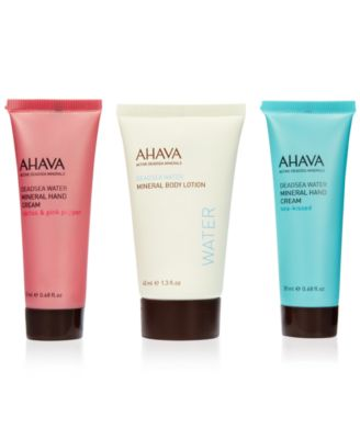 Receive a free 3-piece bonus gift with your $40 Ahava purchase
