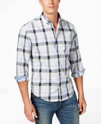 TOMMY HILFIGER Men'S Classic-Fit Anders Plaid Shirt in Black