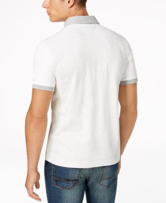 TOMMY HILFIGER Men'S Classic-Fit Miles Colorblocked Polo in White