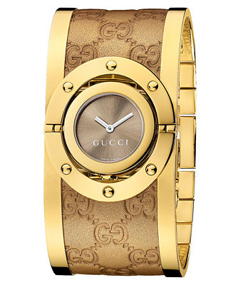 Gucci Watch Women S Swiss Twirl Yellow Gold Plated
