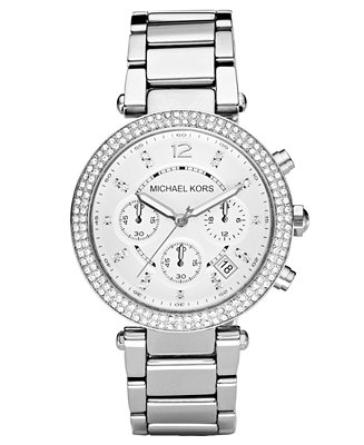 Michael Kors Women S Chronograph Parker Stainless Steel