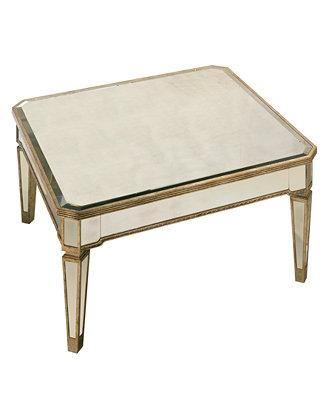 Marais Table Mirrored Square Coffee Table Furniture