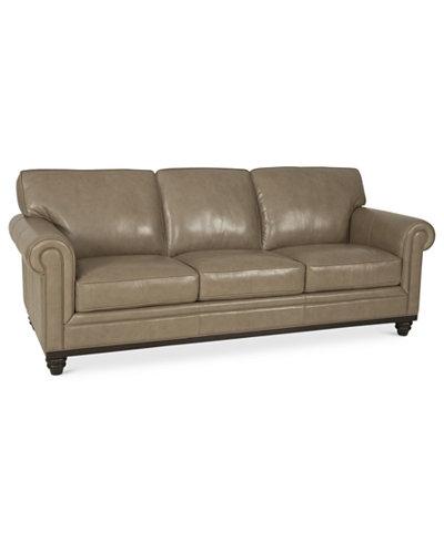 Martha Stewart Collection Bradyn Leather Sofa Furniture