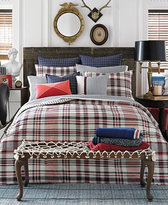 Tommy Hilfiger Vintage Plaid Full Queen Duvet Cover Set