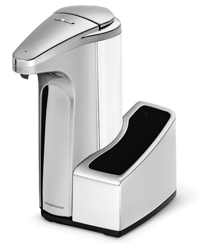 Simplehuman sensor pump soap dispenser with caddy kitchen gadgets kitchen macy 39 s - Simplehuman shampoo soap dispensers ...