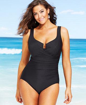 Miraclesuit Plus Size Escape One Piece Swimsuit Swimwear