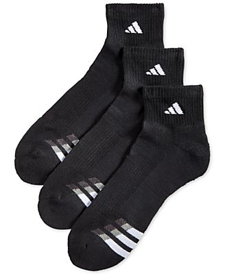 Adidas Men's Cushion Performance Quarter Socks 3-Pack
