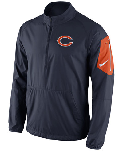 Mens Chicago Bears Cutter & Buck Navy Blue Whidbey WeatherTec Jacket