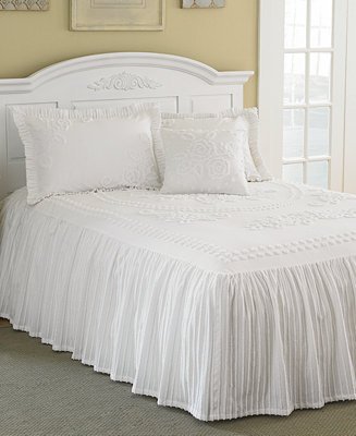 Closeout Mary Jane Chenille Tufted Bedspread Collection