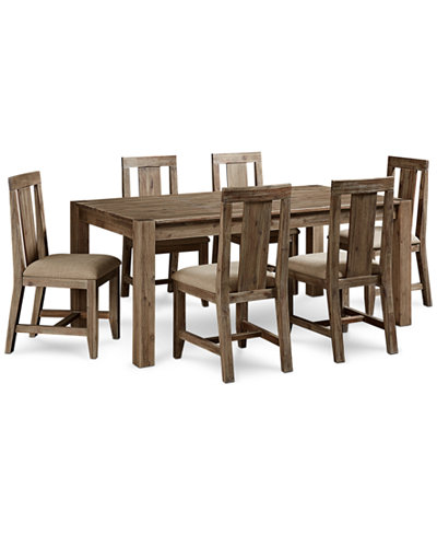 Canyon 7 piece dining set only at macy 39 s table and 6 for Macys dining table