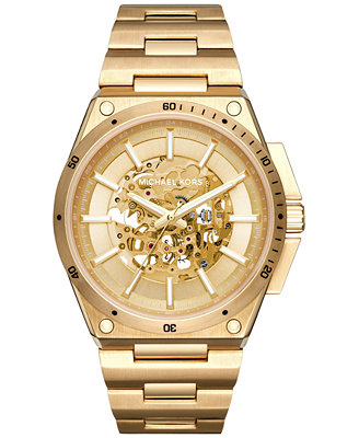 michael kors s automatic wilder gold tone stainless