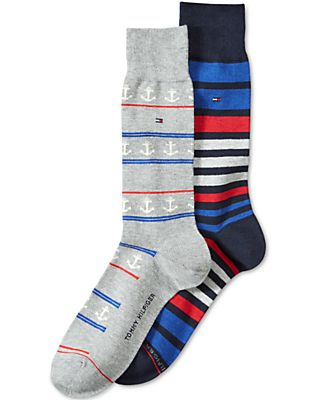 Tommy Hilfiger Men's 2-Pk. Anchor Crew Socks
