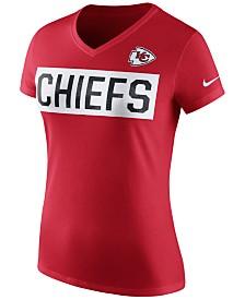 Women's Kansas City Chiefs Junk Food White Sideline V-Neck T-Shirt