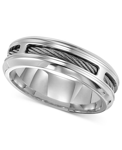 Triton Men S Stainless Steel Ring Comfort Fit Cable