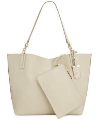 e60e40397dd Tommy Hilfiger Reversible Gabby Double-Sided Tote In Oatmeal Navy ...
