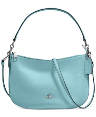 4ab5e5c779 Coach Chelsea Crossbody In Pebble Leather In Silver Cloud ...