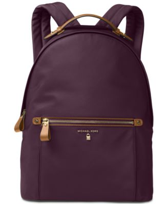 MICHAEL KORS Kelsey Nylon Backpack in Damson