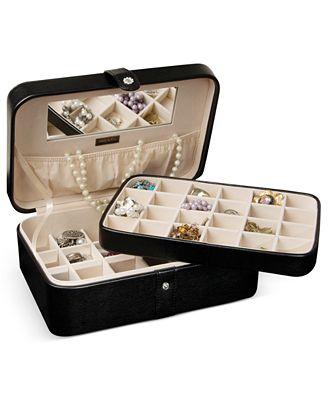 Mele co jewelry box lila black macy 39 s for Macy s standing jewelry box