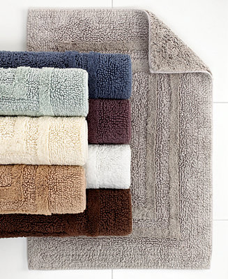 Hotel collection cotton reversible bath rugs 100 cotton only at macy 39 s bath rugs bath for Hotel collection bathroom rugs