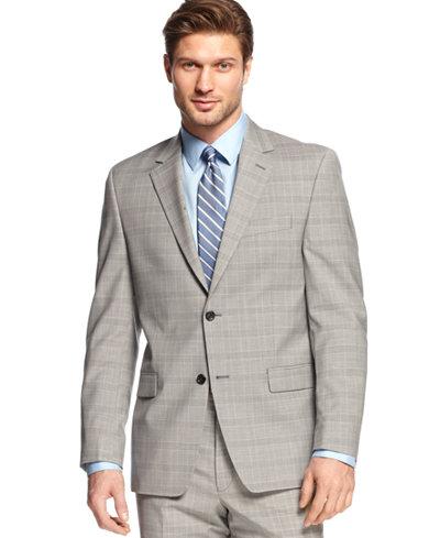 Shaquille O'Neal Light Grey Plaid Jacket