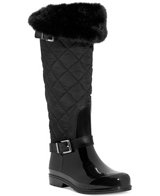Michael Michael Kors Fulton Quilted Rain Boots Boots