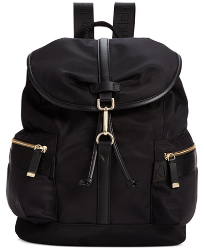 calvin klein talia dressy nylon backpack handbags accessories macy 39 s. Black Bedroom Furniture Sets. Home Design Ideas