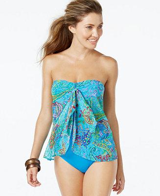 Lauren Ralph Lauren Printed Flyaway One-Piece Swimsuit
