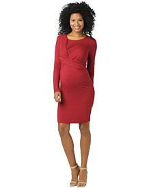 Motherhood Maternity Draped Sheath Dress