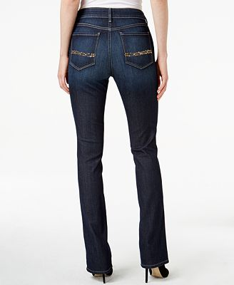 nydj marilyn straight leg hollywood wash jeans jeans