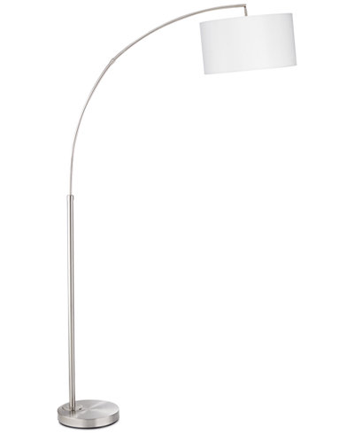 Pacific coast brush steel arc floor lamp only at macy39s for Macy s torchiere floor lamp