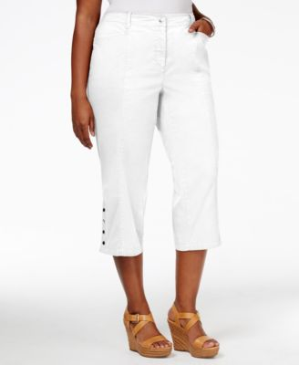 JM Collection Plus Size Cropped Pants, Only at Macy's