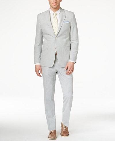 Lauren Ralph Lauren Men's Slim-Fit Blue-Striped Seersucker ...