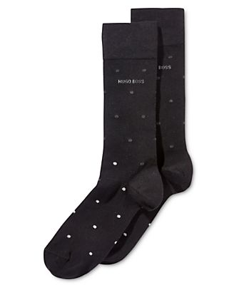Hugo Boss Men's Dot Pattern Dress Socks