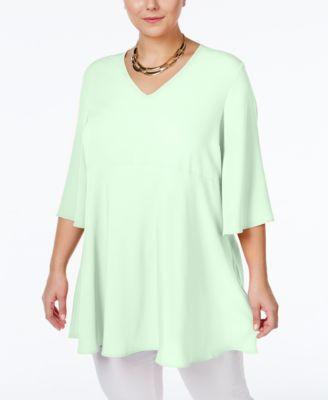 Melissa McCarthy Seven7 Trendy Plus Size V-Neck Peplum Top