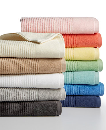 Martha stewart collection quick dry reversible towel collection 100 cotton only at macy 39 s Martha stewart bathroom collection