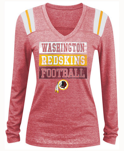 5th & Ocean Women's Washington Redskins Triple Threat Long Sleeve ...