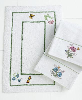 Lenox Bath Accessories Butterfly Meadow Bath Rug