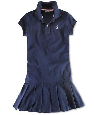 Ralph Lauren Kids Dress Little Girl Polo Dress Sets
