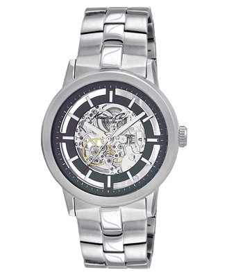 Kenneth Cole Watch Men S Automatic Skeleton Stainless