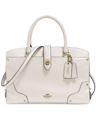 COACH Mercer Satchel 30 In Grain Leather at macy's